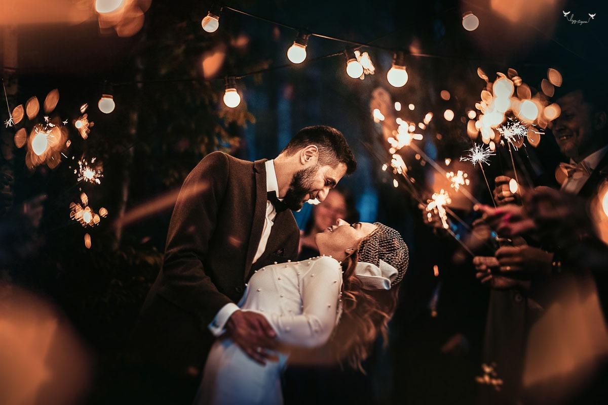 šaltos ugnelės per vestuves
