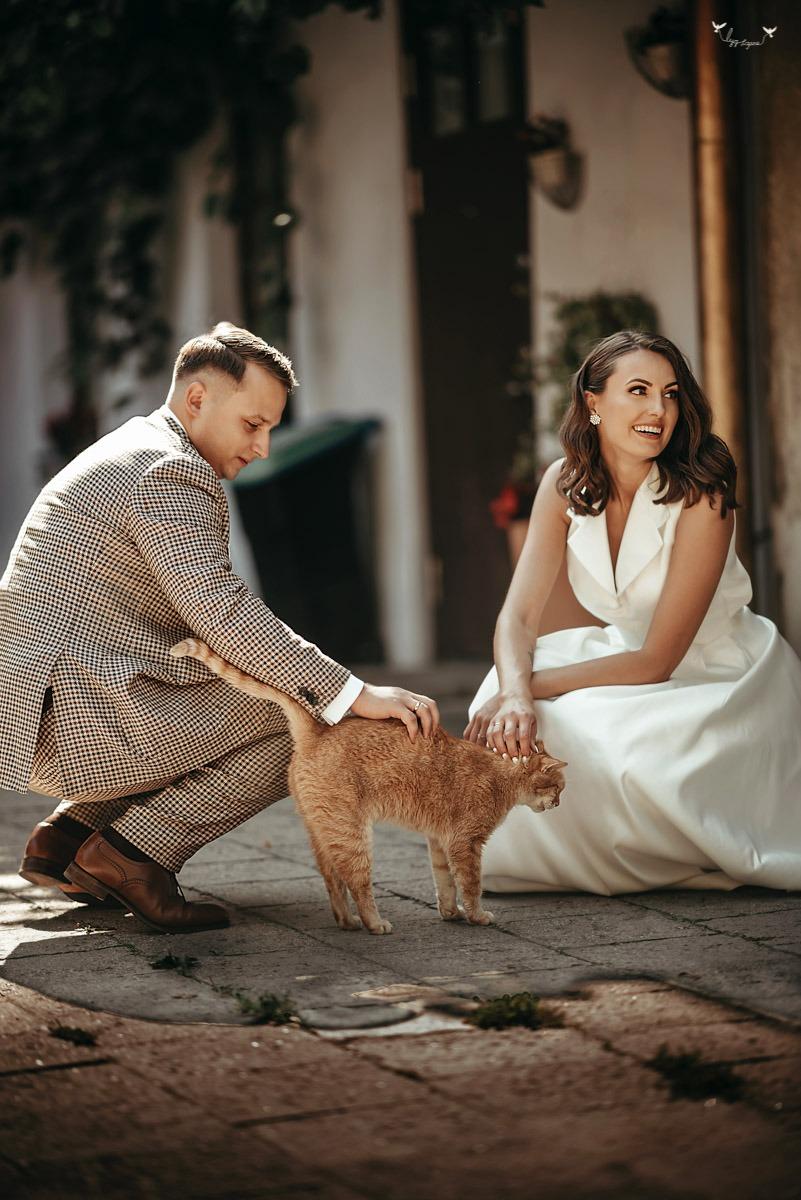 Vestuviu fotosesija su katinu Lyg Sapne Photography